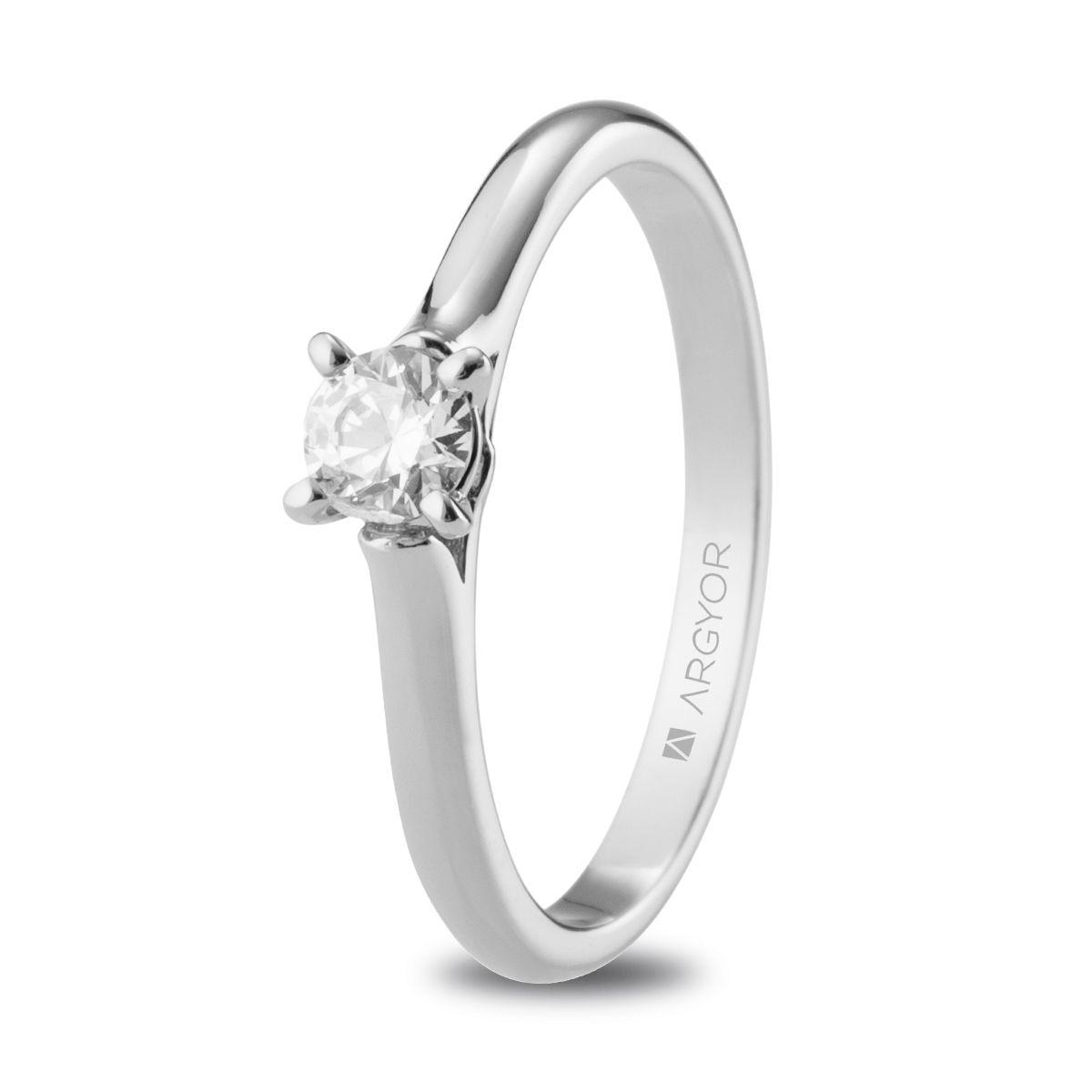 adabbcf188a7 Anillo de compromiso Argyor o. blanco 1 diamante 0.25ct. Sortija 1 diamante  0.25