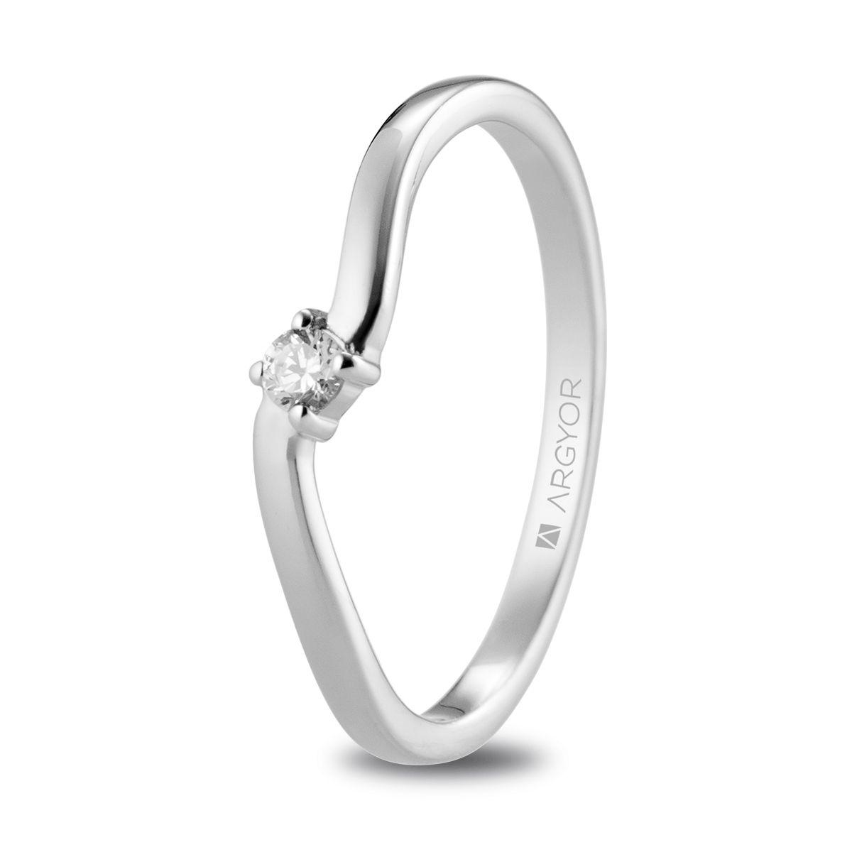 50c98a6036c3 Anillo de compromiso Argyor o. blanco 1 diamante 0.06ct. Sortija con 1  diamante