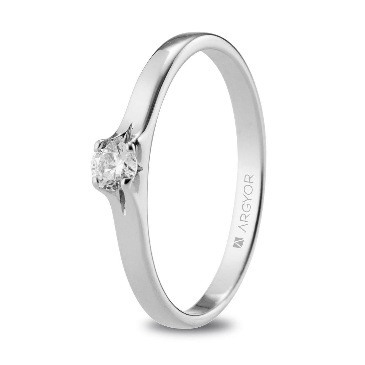 3b8c7e5fa140 Anillo de compromiso Argyor o. blanco 1 diamante 0.15ct. Sortija con un  diamante