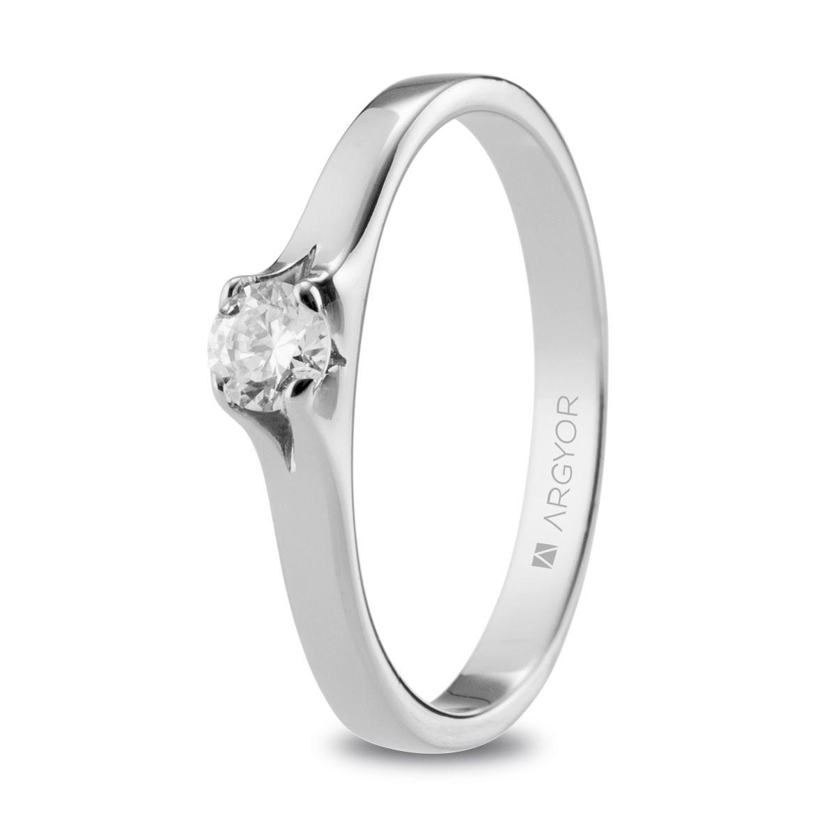 d1527ac721e2 Anillo de compromiso Argyor o. blanco 1 diamante 0.20ct. Sortija con un  diamante