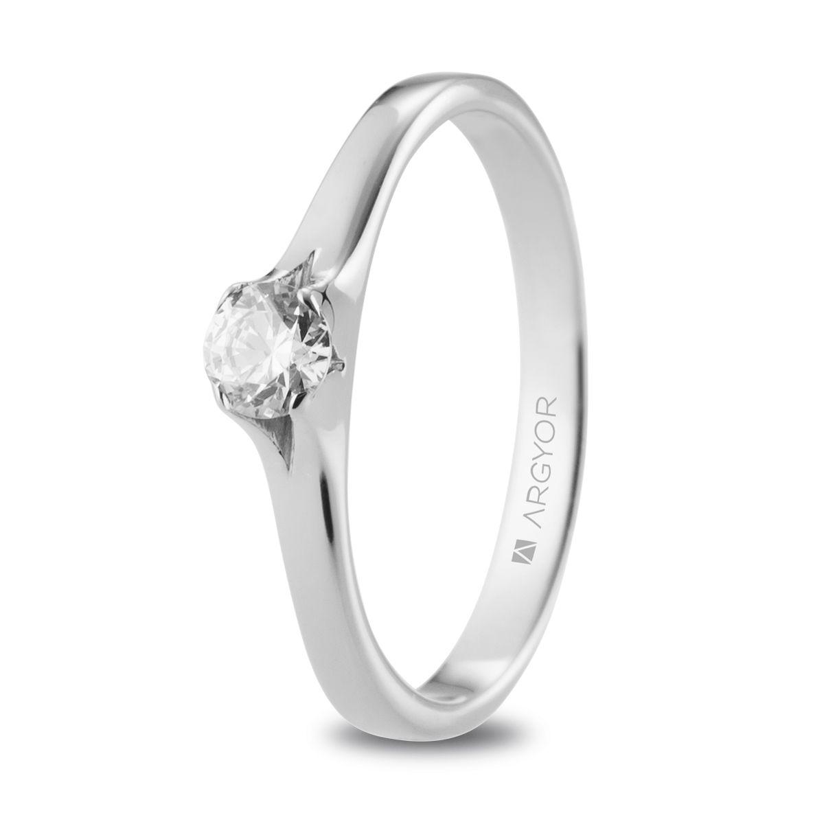 790dcbfd8f7f Anillo de compromiso Argyor o. blanco 1 diamante 0.25ct. Sortija con un  diamante