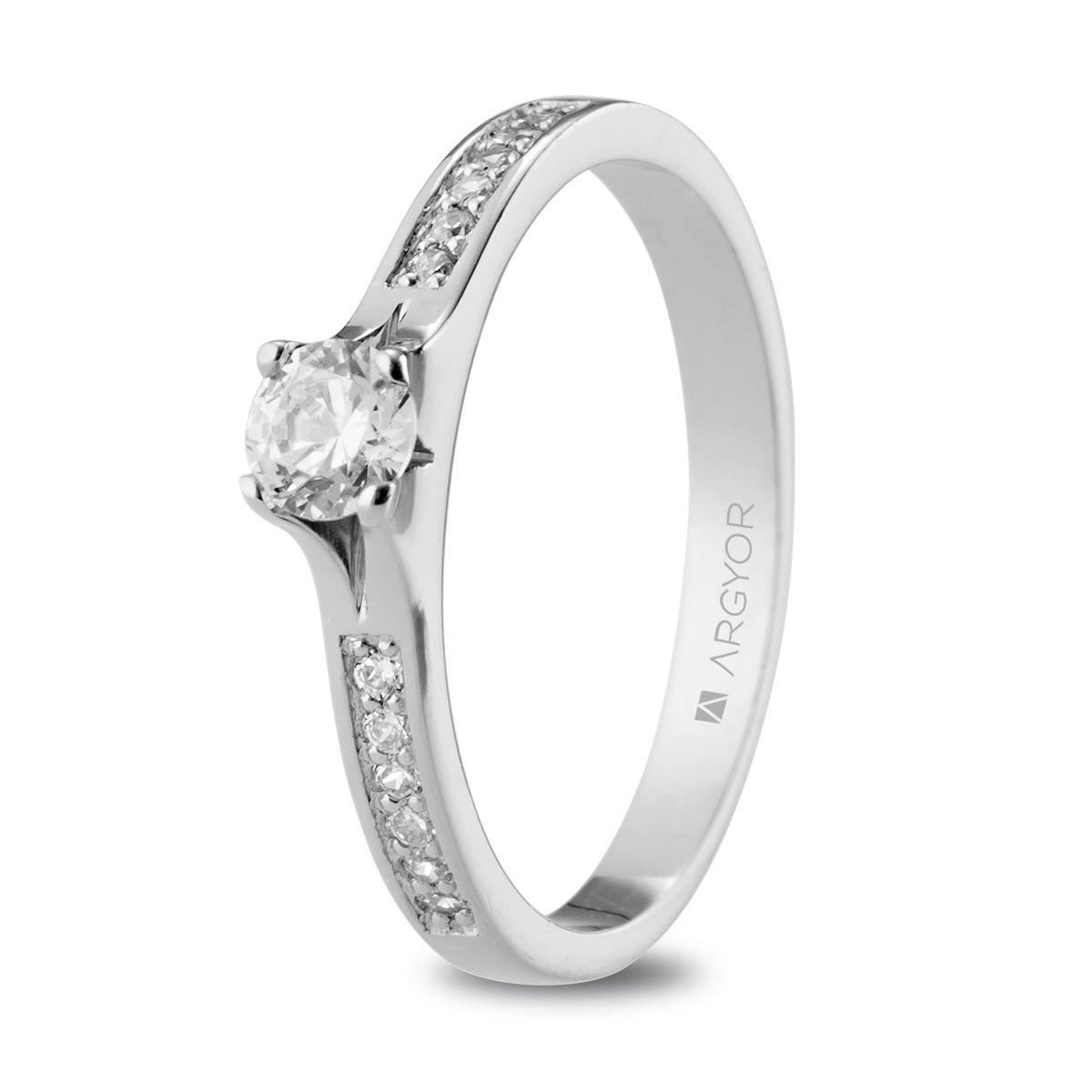 mitad de descuento 74ef3 9c899 Anillo de compromiso Argyor de platino 13 diamantes 0.39ct. Sortija de  platino 13 diamantes 0.39ct