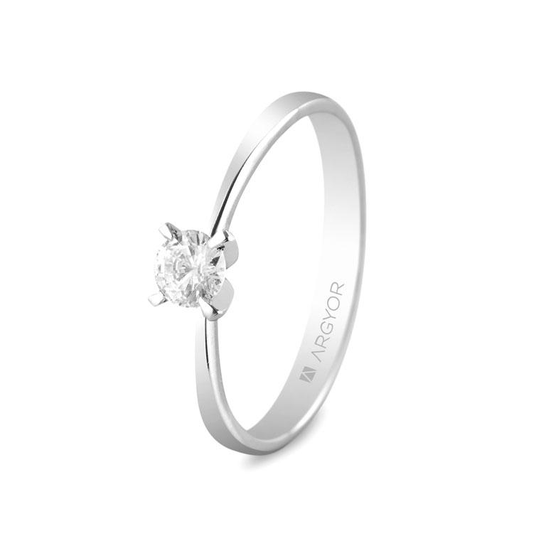 eab8e2d76619 Anillo de compromiso Argyor oro blanco 1 diamante 0.25ct. Sortija con 1  diamante 0.25