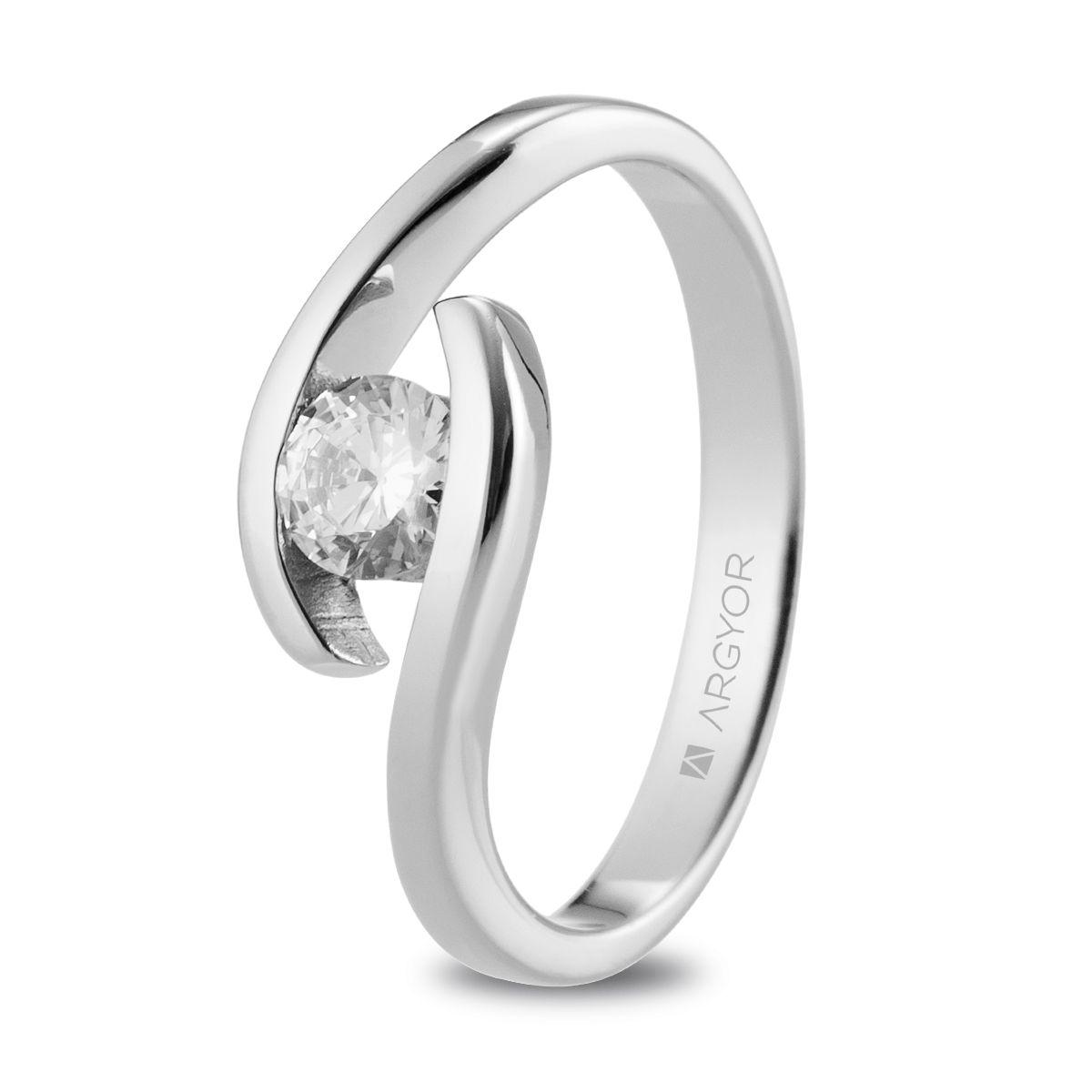 46c073e831b3 Anillo de compromiso Argyor o. blanco 1 diamante 0.35ct. Sortija con un  diamante