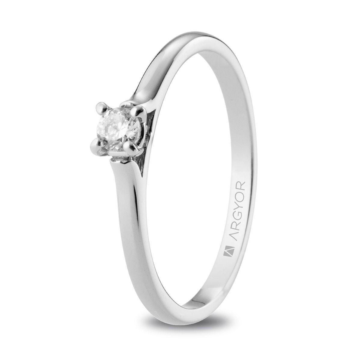 c933e70c0d3a Anillo de compromiso Argyor o. blanco 1 diamante 0.10ct. Sortija un diamante  0.10