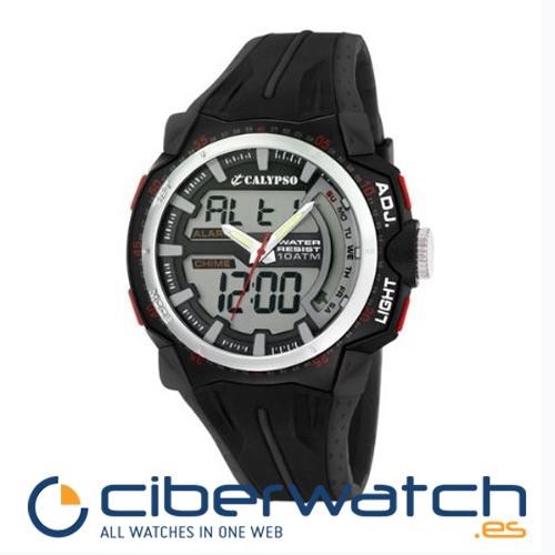 45110c902869 Reloj Calypso by Lotus Anadigi K5539 1 Crono Alarm Luz WR100m ...