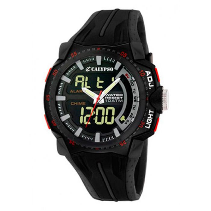 7c2272520a1d Reloj Calypso by Lotus Anadigi K5539 2 Crono Alarm Luz WR100m ...
