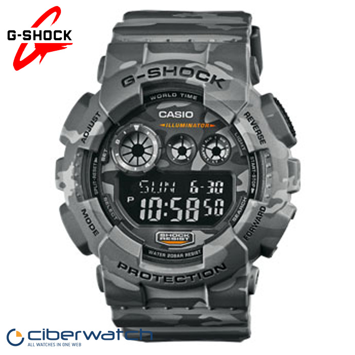 be77c29fe3f6 Reloj Casio G-Shock Camouflage GD-120CM-8ER Sumergible   Relojes Hombre