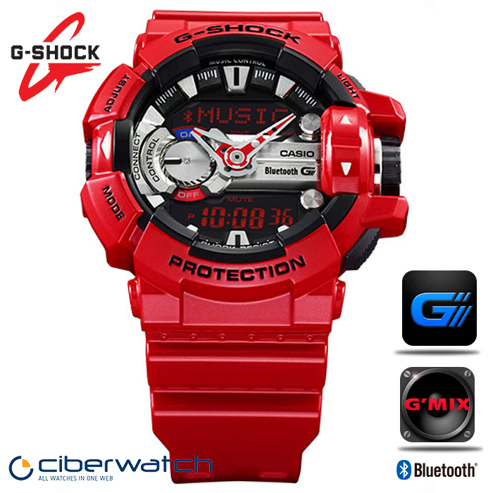 46de4344caccd Reloj Casio G-Shock G Mix Music GBA-400-4AER con Bluetooth   Relojes ...