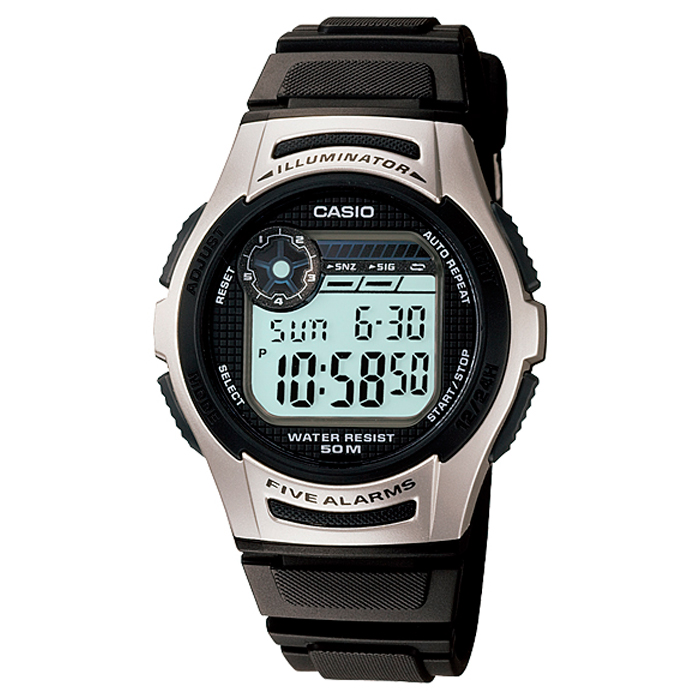 af718fe1a3f3 Reloj Casio para Niño W-213-1AVES Crono Alarma Luz