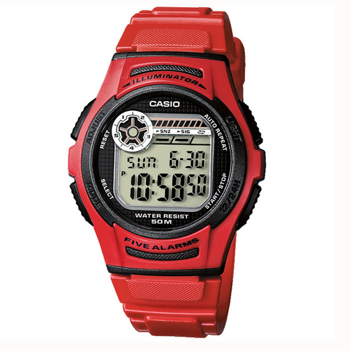 42bfc6791801 Reloj Casio para Niño W-213-4AVES 5 alarmas   Relojes Niños