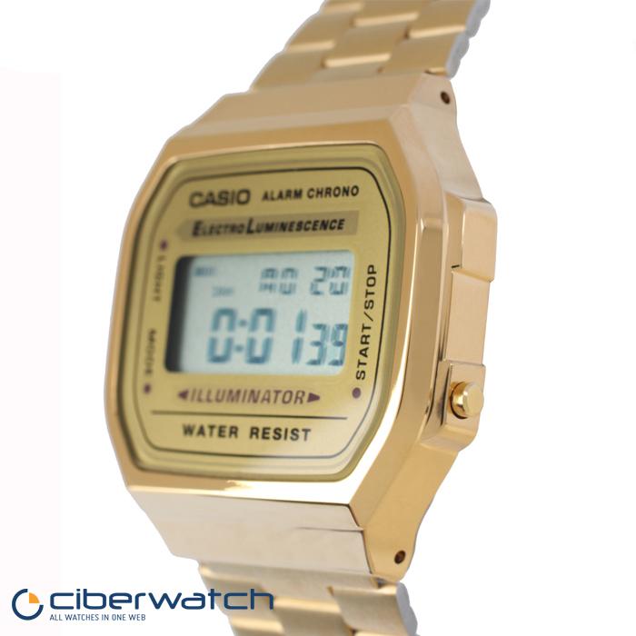 f79cde7716a4 ... Reloj Casio Retro Dorado A168WG-9EF ...