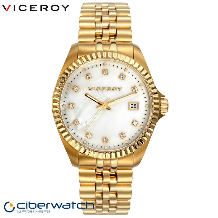4a9ed74c4cc9 Reloj Dorado para Mujer Viceroy 432254-07 Sumergible   Relojes Mujer