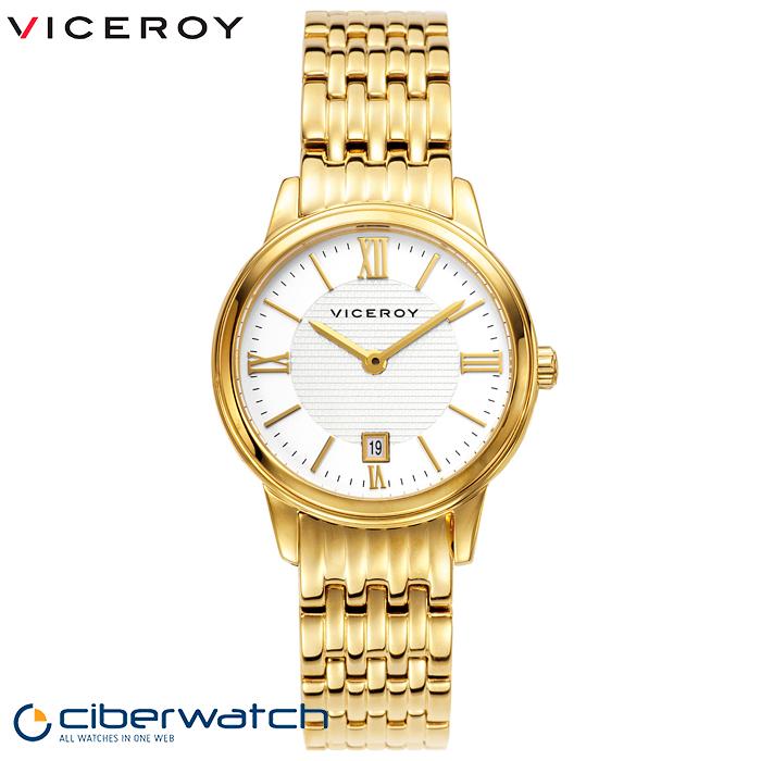 bastante agradable 292cf 23143 Reloj Dorado Viceroy 47832-23 para Mujer, Sumergible