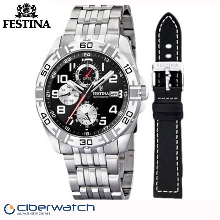 Reloj Festina Box Multifunción F16494 2 Sumergible 100m + Correa ... 85a61455f84a