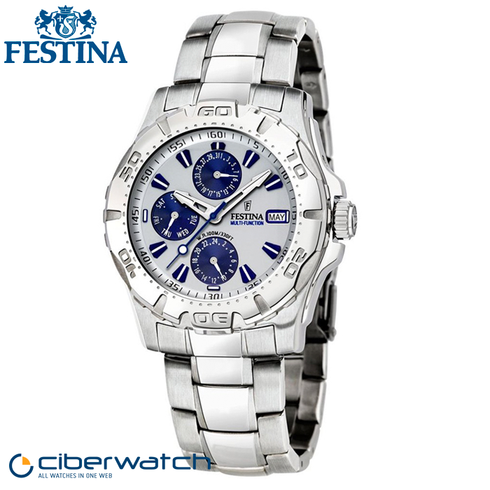 Reloj Festina Multifunción F16242 1 Sumergible 100m   Relojes Hombre bd905c97bf6