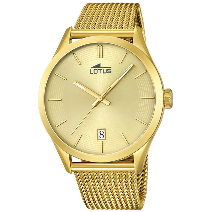 9e34a8589ba3 Reloj Lotus Unisex Dorado 18109 1 Sumergible   Relojes Hombre